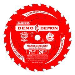 """Freud D0724DA 7-1/4"""" x 5/8"""" 24 teeth wood saw blade"""