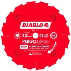 """Diablo D1216LFC 12"""" x 1"""" 16 teeth Laminate Flooring PERGOBlade"""