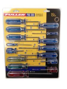 Fuller 110-3015 Ensemble de 15 tournevis assortis