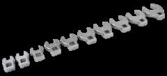 """Gray Tools 64910 Ensemble de 10 clés pied de biche à prise 3/8"""" chrome poli"""
