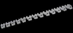 """Gray Tools 64913 Ensemble de 13 clés pied de biche à prise 3/8"""" chrome poli"""