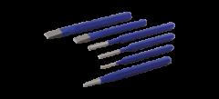 Gray Tools C6LR Ensemble combiné de 6 poinçons et burins