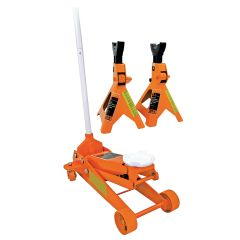 Jet 030416 2-1/2 tons service jack plus 3 tons vehicle stands