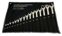 "Jet 700001 16 piece 12 point combination wrench set 1/4"" - 1-1/4"""