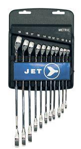 Jet 700182 Ensemble de 11 clés combinées 12 pans 8-19mm