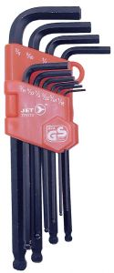 "Jet 775173 10 pcs ""L-shaped"" Extra long hex wrench set 1/16"" - 3/8"""