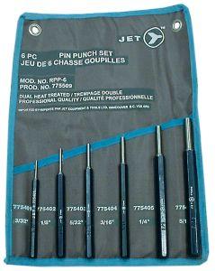 Jet 775509 6 pcs Drive pin punch set