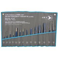 Jet 775511 Ensemble combiné de 14 poinçons et burins