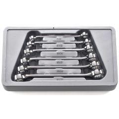 GearWrench 81906 Ensemble de 6 clés à tuyau doubles 9mm x 11mm - 19mm x 21mm