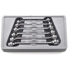 GearWrench 81906 6 piece double flare nut wrench set 9mm x 11mm - 19mm x 21mm