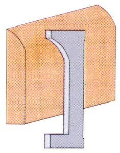 King K-4530 Couteaux de moulurières ( plinthe )