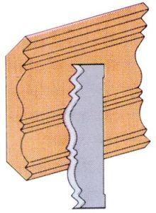 King K-4533 Couteaux de moulurières ( décoratif )