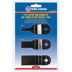 King KW-4805 Ensemble de 3 lames d'outil oscillant