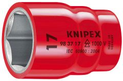 "Knipex 983717 17mm x 6 point 3/8"" drive insulated socket"