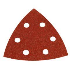 "Makita B-21565 Disque de poncage triangulaire velcro 3-3/4"" x 6 trous ( grain 60 )"