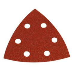 "Makita B-21571 Disque de poncage triangulaire velcro 3-3/4"" x 6 trous ( grain 80 )"