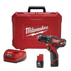"Milwaukee 2407-22 12V 3/8"" drill-driver M12"