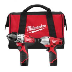 Milwaukee 2494-22 Ensemble de 2 outils M12 lithium-ion