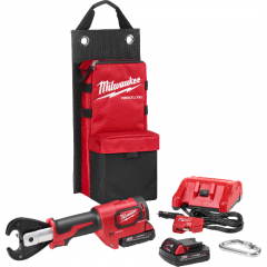 "Milwaukee 2678-22 M18 FORCE LOGIC 6T Utility Crimper Kit with D3 Grooves ""Snub Nose"""