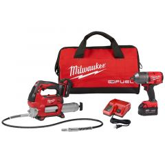 Milwaukee 2767-22GG 18V Impact Wrench and 18V Grease Gun Kit