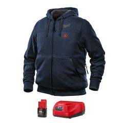 Milwaukee 302BL-21M M12 blue heated hoodie M