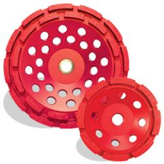 "Pearl Abrasive PV04CDH 4"" x 5/8""-11 diamond cup wheel"