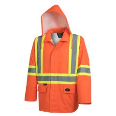 Pioneer V1081350-M Manteau de imperméable moyen orange