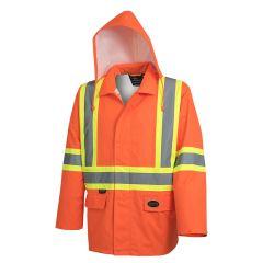 Pioneer V1081350-M Orange Medium Waterproof jacket