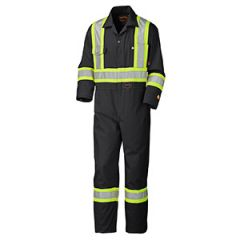 Pioneer V2520270-36 Black 36 Cotton Flame resistant safety coverall