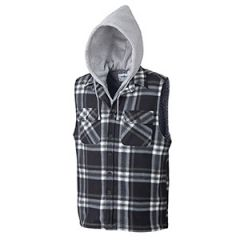 Pioneer V3080690-S Black and white Small Hooded vest