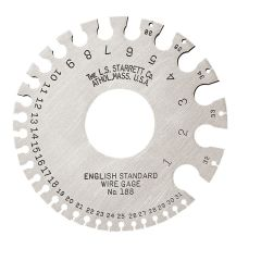 Starrett 188 1-36 English Standard wire gage