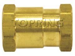 Topring 41-193 1/4 (F) NPT x 1/8 (F) NPT Hexagonal female adapter