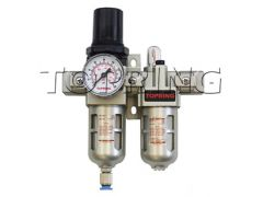 Topring 51-250 Unité combinée filtreur/régulateur intégré 1/4 (f) NPT semi-automatique polycarbonate