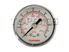 "Topring 55-100 Standard dry Pressure Gauge 1-1/2"" 1/8 NPT CBM 0-30"
