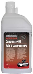 Topring 69-201 Premium mineral oil for reciprocating compressor (1L)