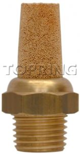 "Topring 86-115 Muffler/Filter ""bronze"" 3/8(M)NPT"