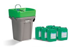 Walter 55D365CBAP CLEANBOX COMPACT S + CB100 ALU Pails, Heated, Start-up Package