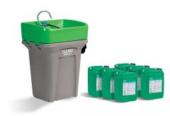 Walter 55D365CBP CLEANBOX COMPACT S + CB100 PAILS, Heated, Start-up Package