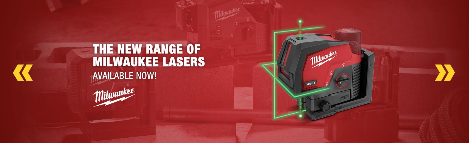 New range of Milwaukee Lasers