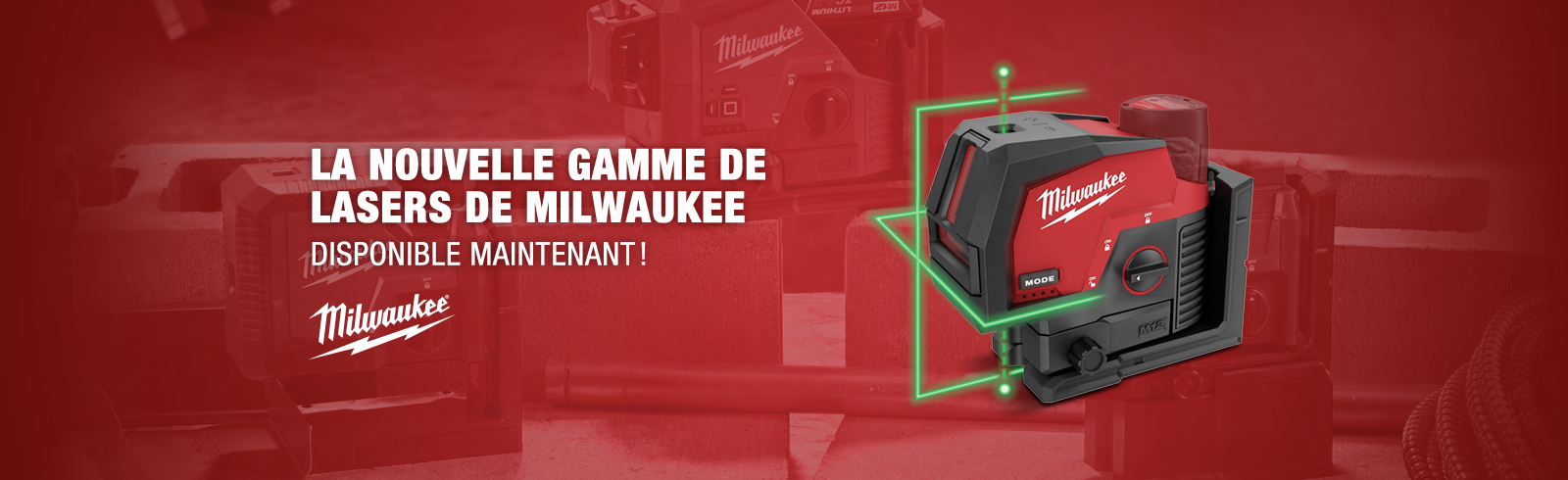 Nouvelle game de laser Milwaukee