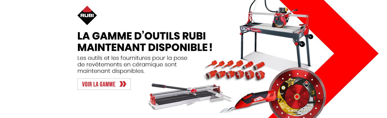 Nouveaux produits RUBI