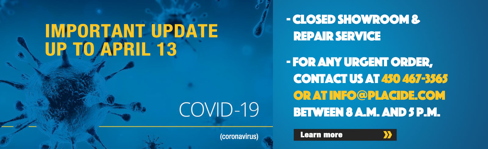 Covid-19 : Important update up to April 13 2020