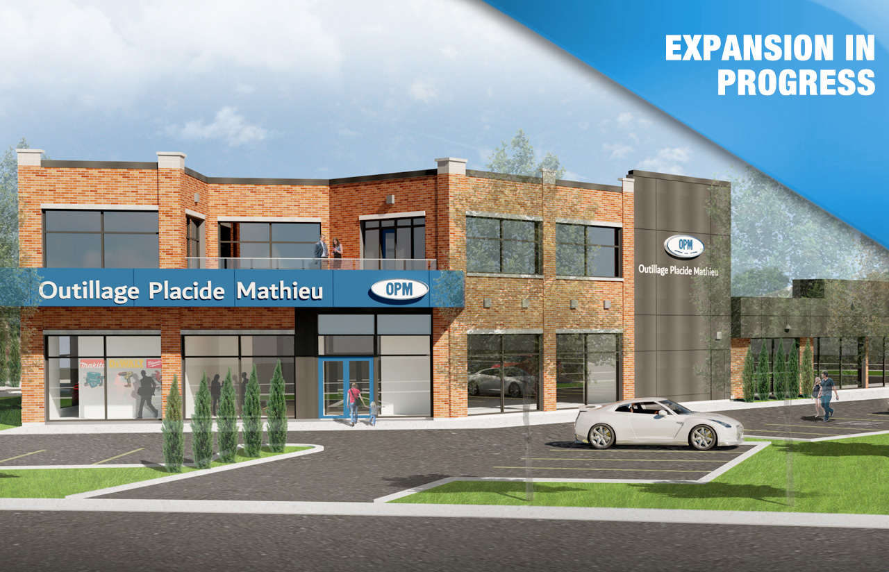 Outillage Placide Mathieu is growing, store extension opening in spring 2020